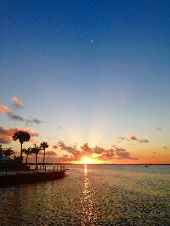 Keyes sunset